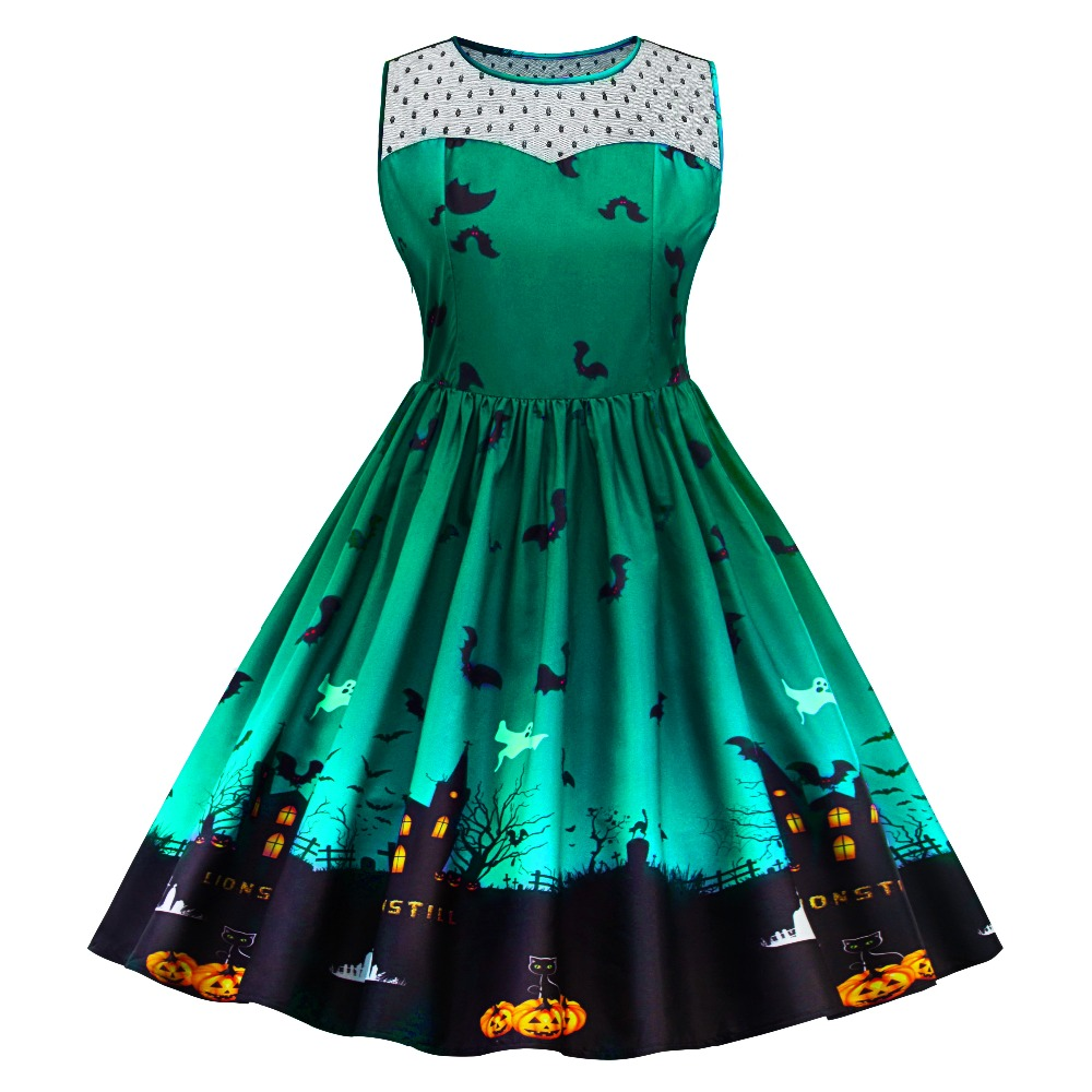 Retro Haunted House Party Dress – Rockabilly Threads