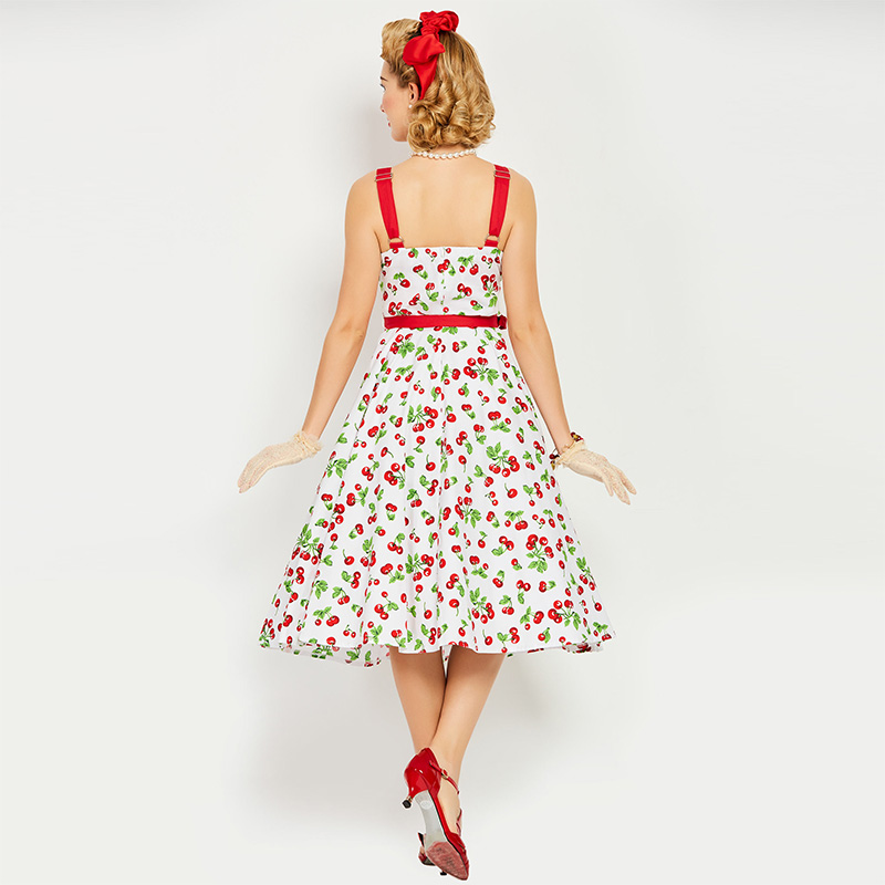 cd7265eefd5 Sisjuly-vintage-1950s-dress-white-floral-print-retro -cherry-summer-rockabilly-spaghetti-strap-party-elegant-vintage-4.jpg